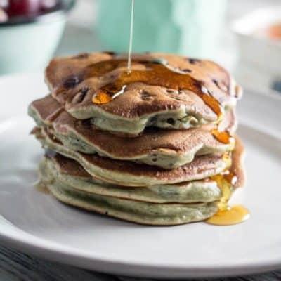 Whole Wheat Lemon-Blueberry Pancakes