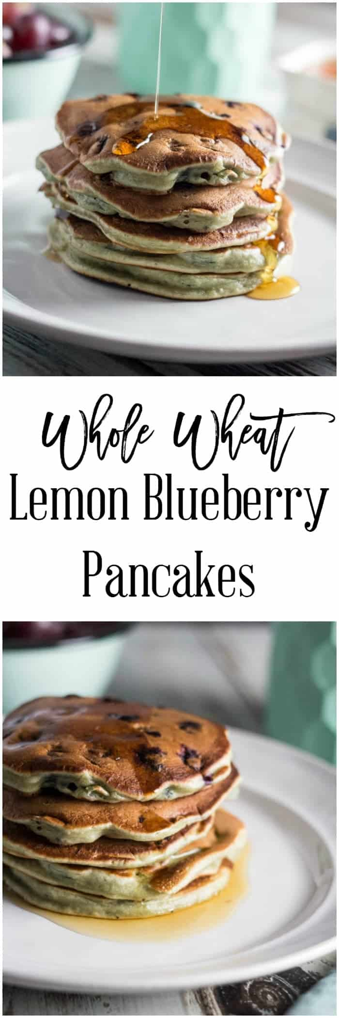 Whole Wheat Lemon Blueberry Pancakes - Breakfast doesn't have to mean spending hours in the kitchen. These whole wheat lemon blueberry pancakes are great to make ahead over the weekend and freeze for quick and easy breakfasts during the week. They are also only 6 SmartPoints per serving on Weight Watchers, 2 pancakes