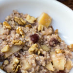 Slow Cooker Apple Cranberry Oatmeal
