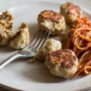 Baked Parmesan Turkey Meatballs