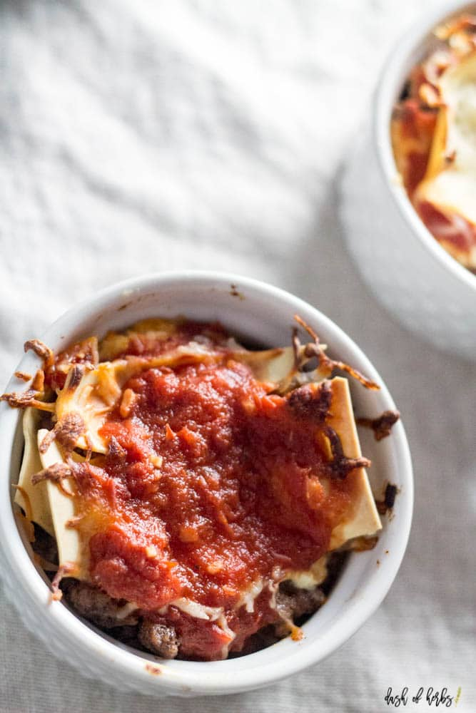 The Best Personal Sized Lasagna
