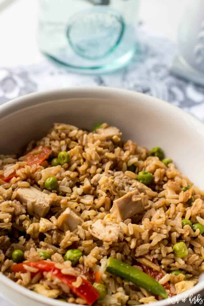 Easy, Healthy Chicken Fried Rice