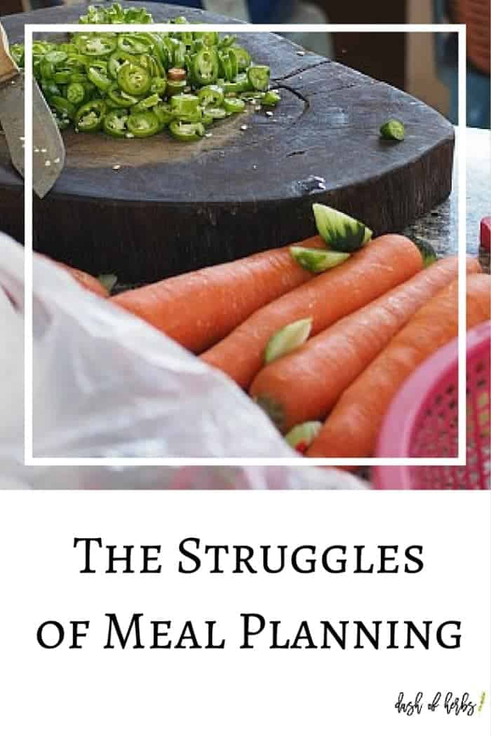 The Strugglesof Meal Planning