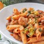 Whole Wheat Penne with Sausage and Spinach