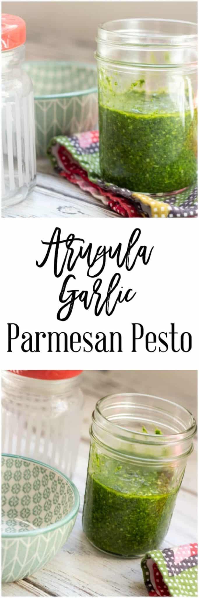 Arugula Garlic Parmesan Pesto