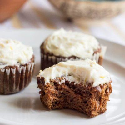 Healthy Carrot Cake Cupcakes With Cream Cheese Frosting