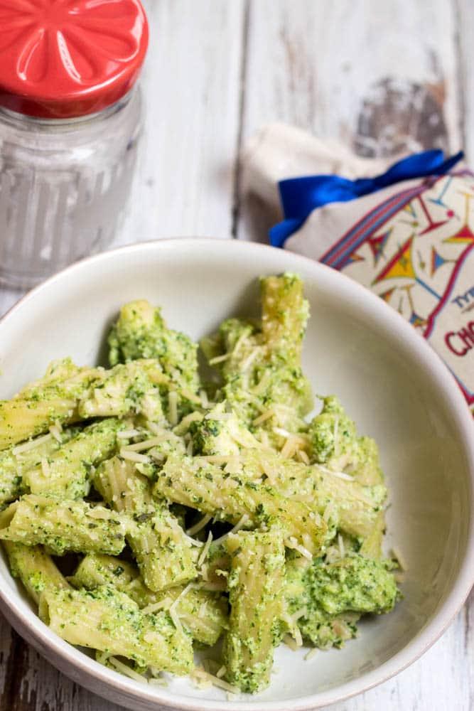 Ziti with Chicken and Pesto