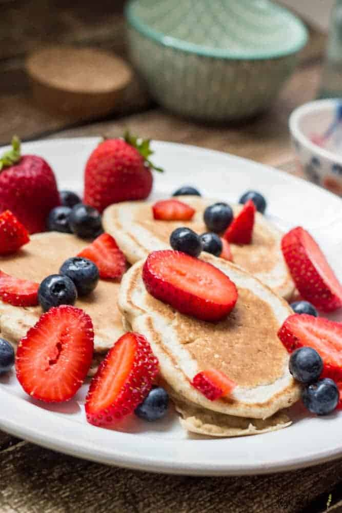 Low Fat Lemon Pancakes