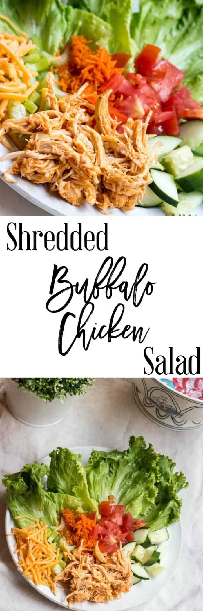 Shredded Buffalo Chicken Salad