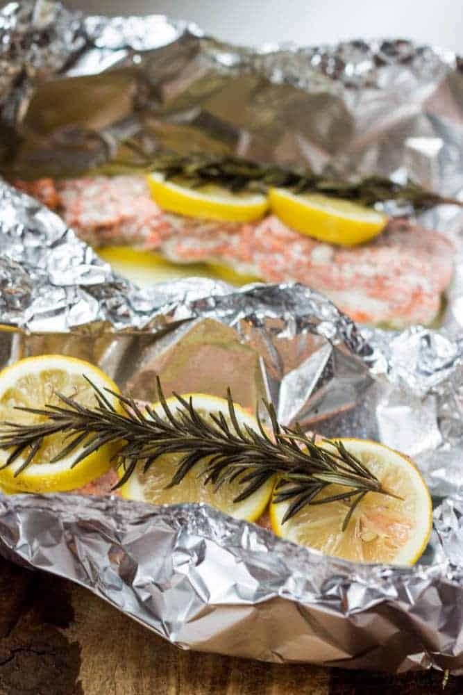 Baked Salmon in Foil Packets