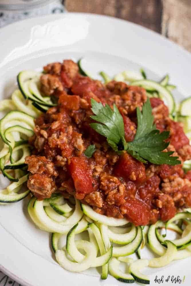 Turkey Spaghetti with Zoodles
