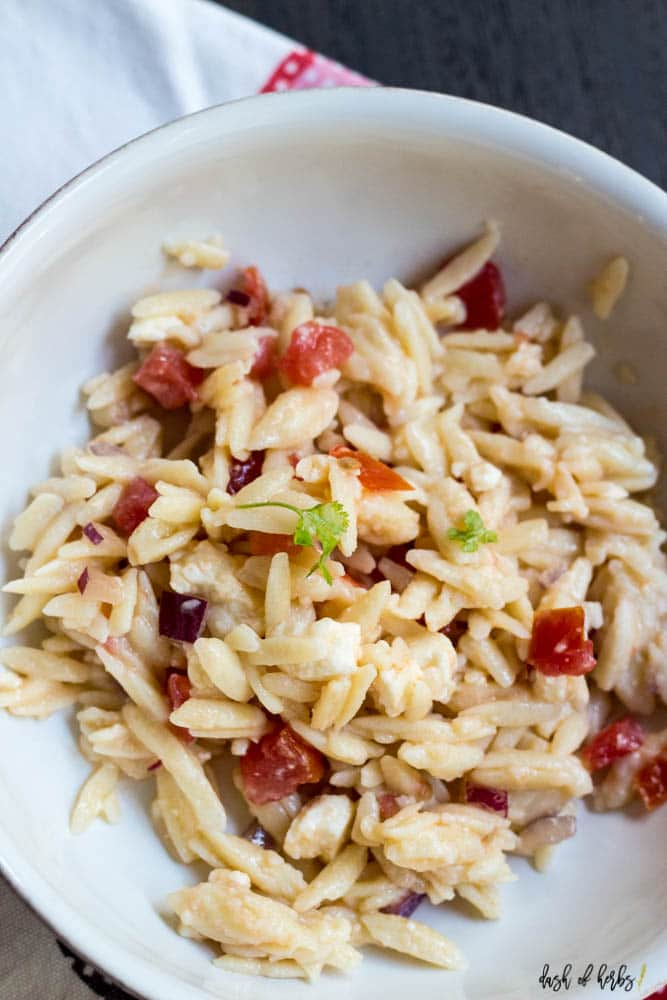 Easy Orzo and Feta Salad