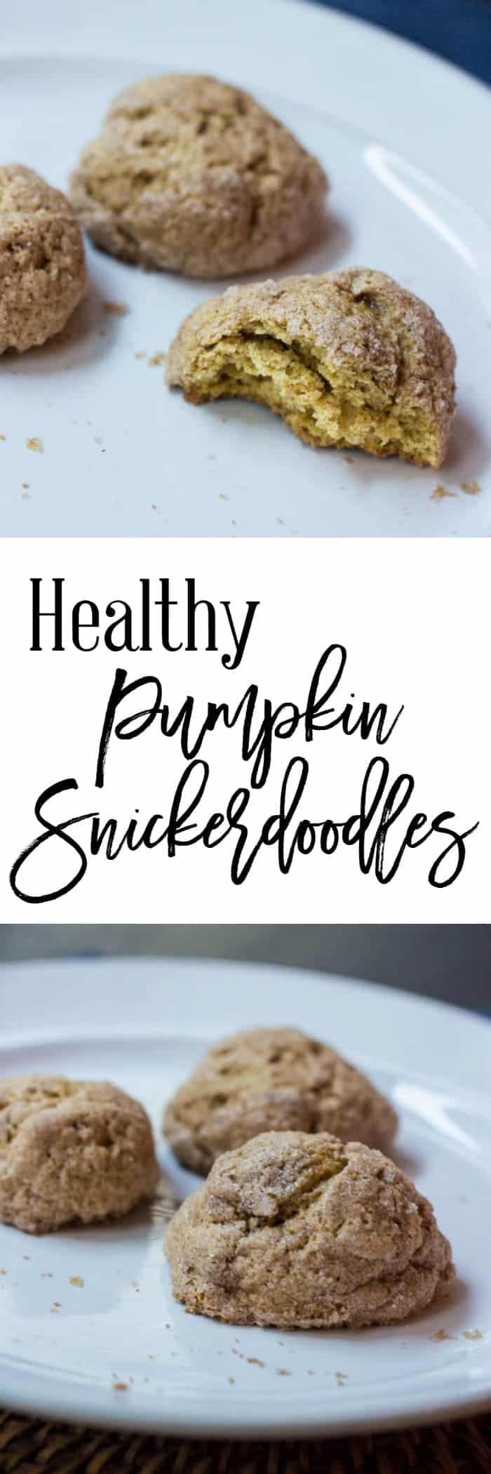 Healthy Pumpkin Snickerdoodles