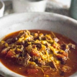 Spicy Instant Pot Steak Chili