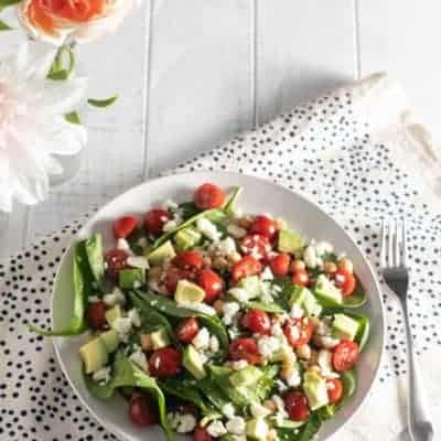 Avocado Tomato and Chickpea Salad