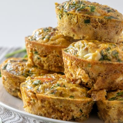 Turkey Sausage and Spinach Mini Quiches